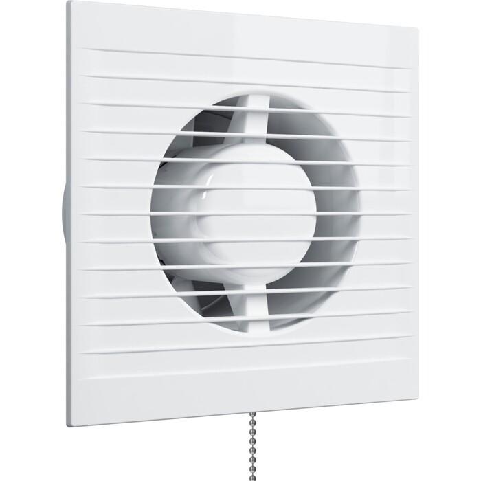 Вентилятор Era осевой с обратным клапаном и тяговым выключателем D 125 (E C -02)