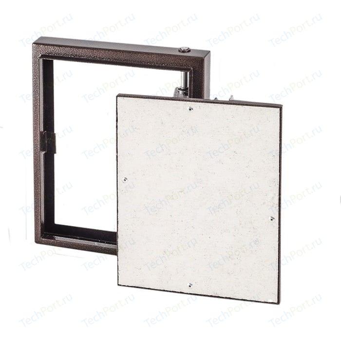 Люк EVECS под плитку на петле окрашенный металл 300х300 (D3030 ceramo steel)