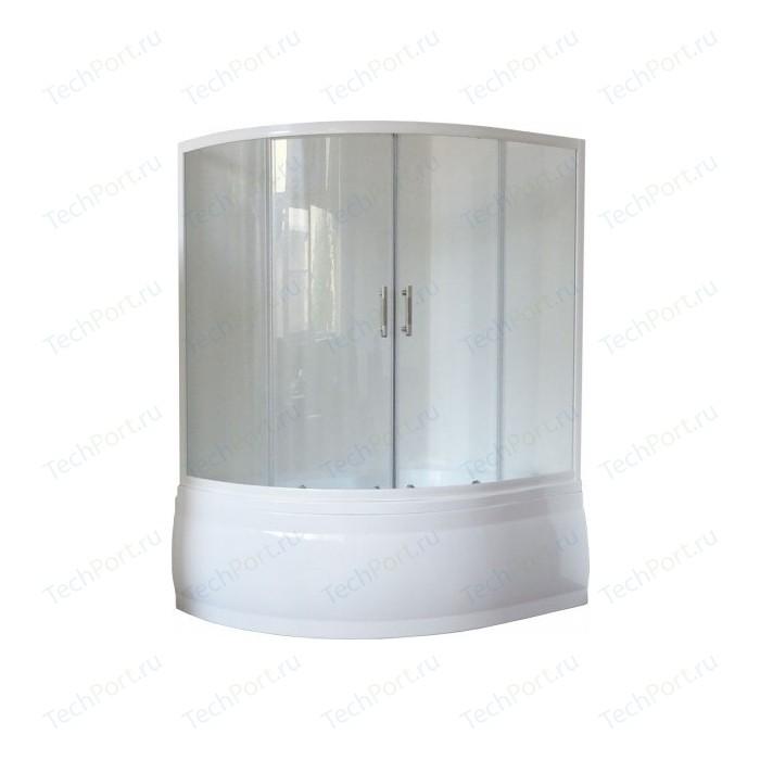 Шторка на ванну Royal Bath Alpine 160 прозрачная, белый (RB160ALP-T)