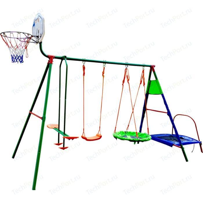 Детский комплекс DFC с батутом и баскетболом MTB-01