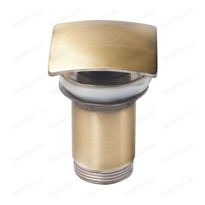 Донный клапан Kaiser Click-clack квадрат, старая бронза Antique (8033An)