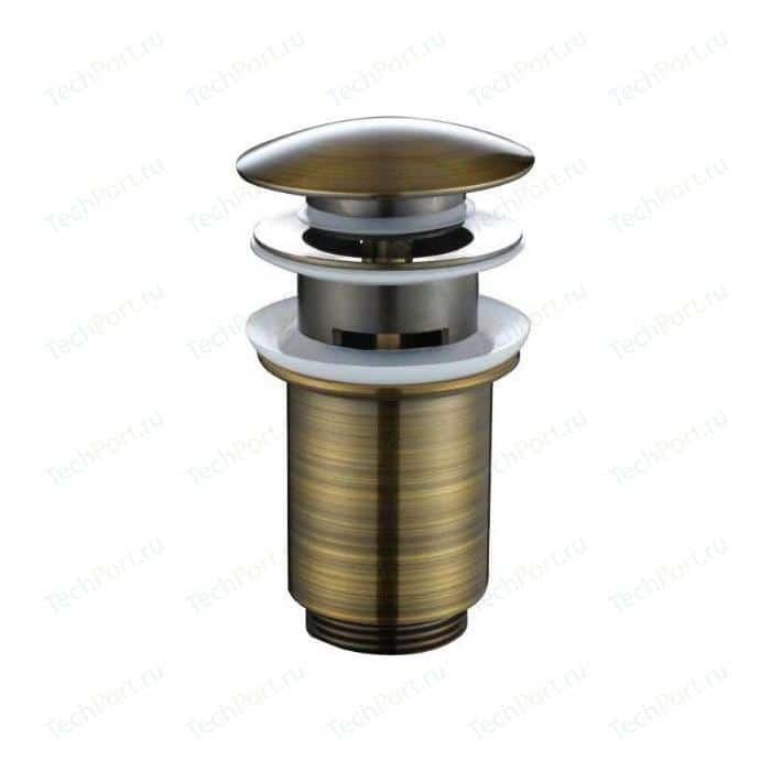 Донный клапан Kaiser Click-clack старая бронза Antique (8036An/8036Br)