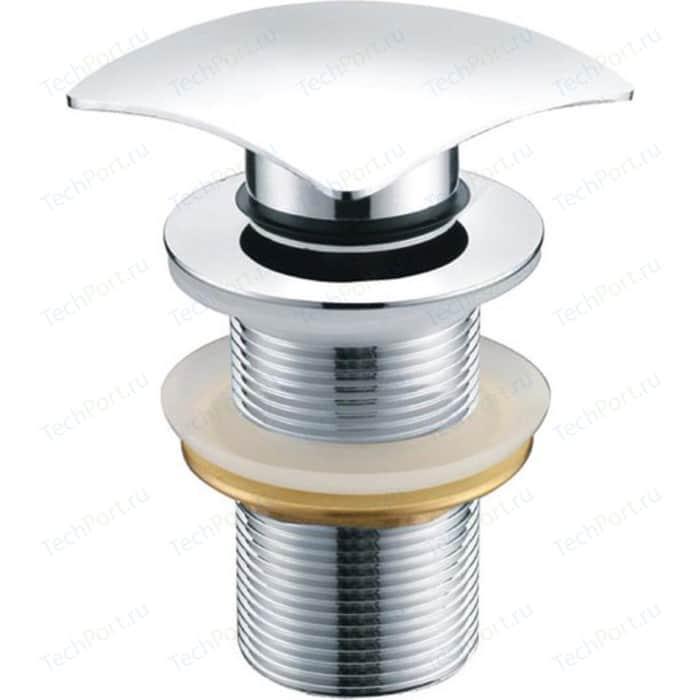 Донный клапан Kaiser Click-clack квадрат, с переливом, хром (8034)