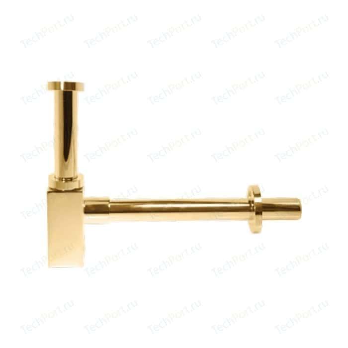 Сифон для раковины Kaiser квадрат без выпуска, золото (958K-Gold)