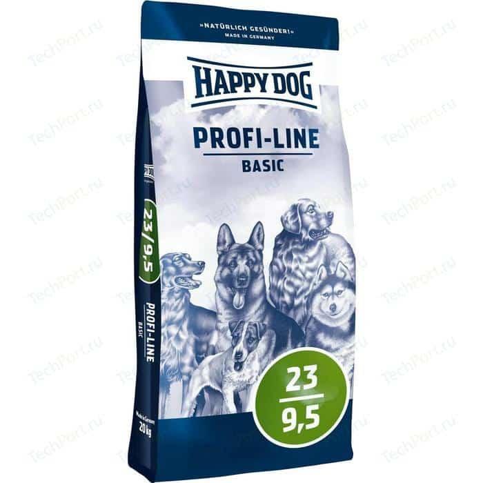 Сухой корм Happy Dog Profi-Line Basic 23/9,5 с мясом птицы для взрослых собак всех пород 20кг (03129)