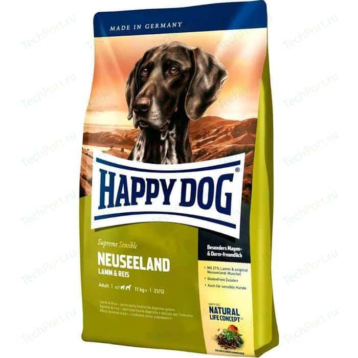 Сухой корм Happy Dog Supreme Sensible Adult 11kg+ Neuseeland Lamb & Rice с ягненком и рисом для взрослых собак средних крупных пород 1кг (03553)