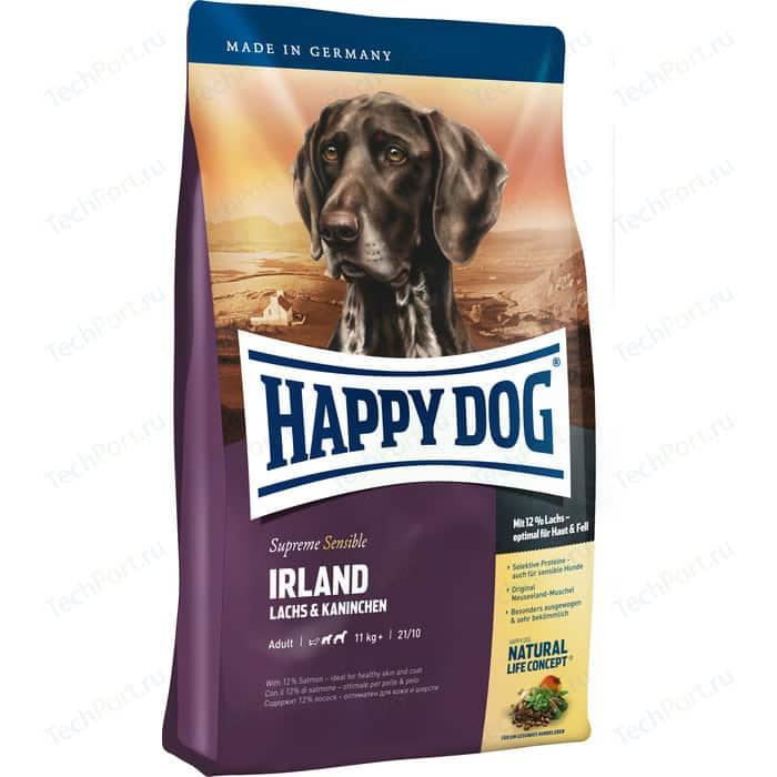 Фото - Сухой корм Happy Dog Supreme Sensible Adult 11kg+ Irland Salmon & Rabbit с лососем и кроликом для собак средних и крупных пород 4кг (03537) сухой корм happy dog supreme sensible adult 11kg irland salmon
