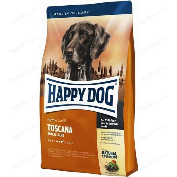 Фото - Сухой корм Happy Dog Supreme Sensible Adult Toscana Duck & Salmon с уткой и лососем для взрослых собак 12,5кг (03542) сухой корм happy dog supreme sensible adult 11kg irland salmon