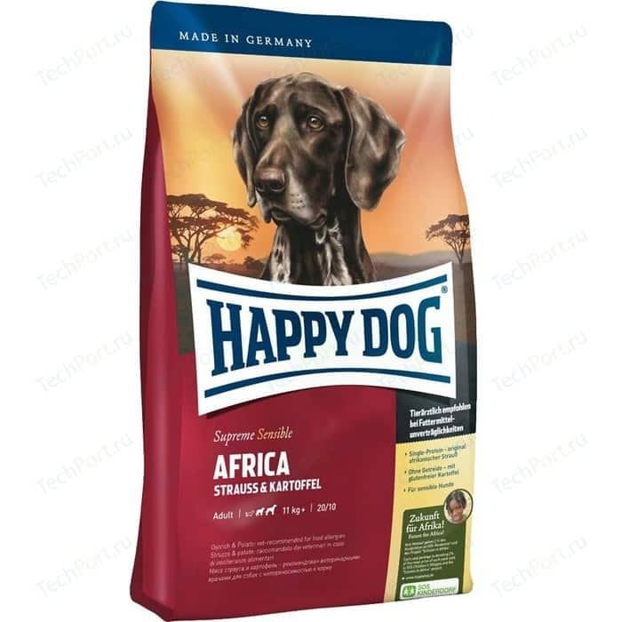 Фото - Сухой корм Happy Dog Supreme Sensible Adult 11kg+ Africa Ostrich&Potato с мясом страуса и картофелем для собак средних и крупных пород 12,5кг (03548) сухой корм happy dog supreme sensible adult 11kg irland salmon