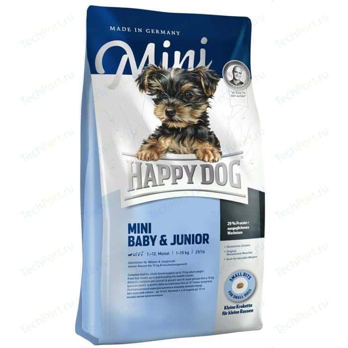 Сухой корм Happy Dog Mini Baby & Junior 1-12 Monat 10kg для щенков и юниоров мелких пород до 10кг 1кг (03411-03409)
