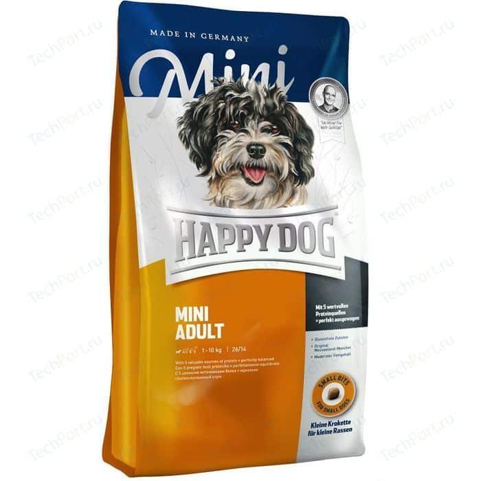 Сухой корм Happy Dog Mini Adult 1-10kg с мясом птицы для взрослых собак мелких пород до 10кг 1кг (60003)