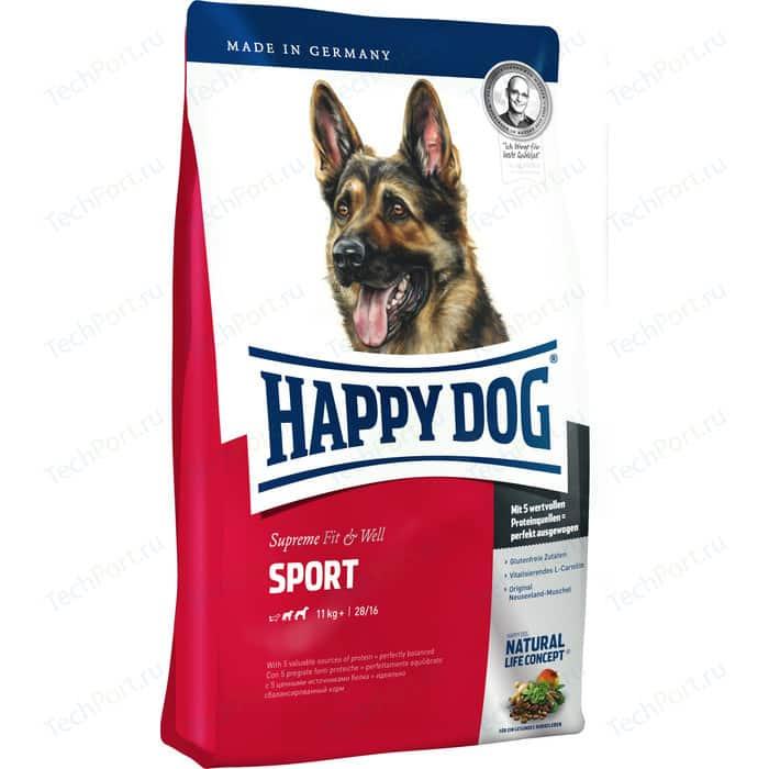 Фото - Сухой корм Happy Dog Supreme Fit & Well Sport 11kg+ с мясом птицы облегченный для активных собак средних и крупных пород 15кг (60030) сухой корм happy dog supreme sensible adult 11kg irland salmon