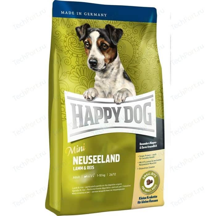 Сухой корм Happy Dog Mini Adult 1-10kg Neuseeland Lamb & Rice с ягненком и рисом для взрослых собак мелких пород 4кг (60115)