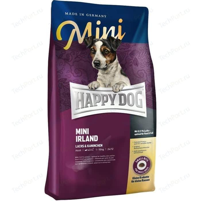 Фото - Сухой корм Happy Dog Mini Adult 1-10kg Irland Salmon & Rabbit с лососем и кроликом для взрослых собак мелких пород 1кг (60112) сухой корм happy dog supreme sensible adult 11kg irland salmon