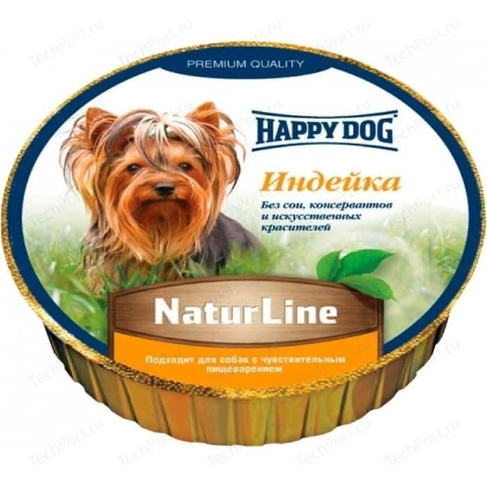 Консервы Happy Dog Natur Line индейка для собак 85г (71497)