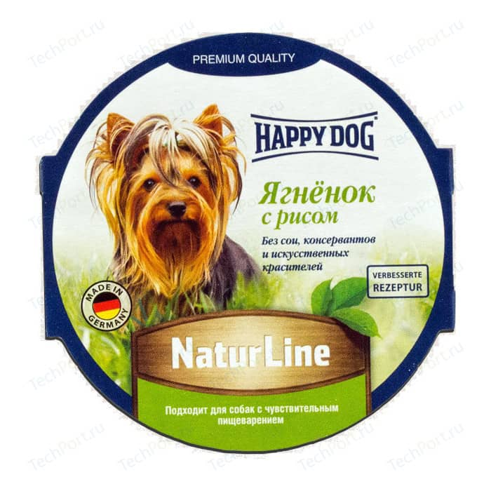Консервы Happy Dog Natur Line ягненок с рисом для собак 85г (71498)