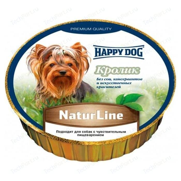 Консервы Happy Dog Natur Line кролик для собак 85г (71499)