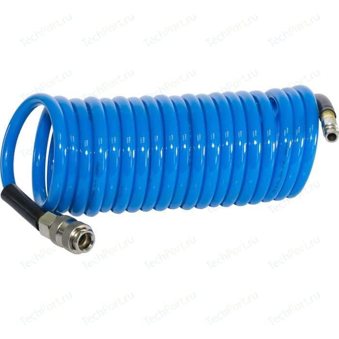Шланг спиральный Fubag 6х10мм 5м (170300) шланг спиральный fubag 6х8мм 15м 10бар с фитингами 170025