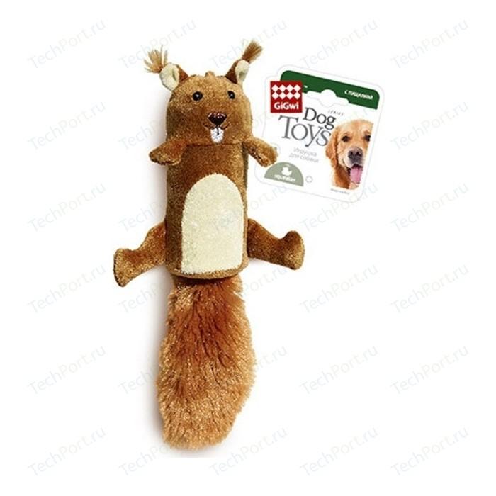 Игрушка GiGwi Dog Toys Squeaker белка с большой пищалкой для собак (75015)