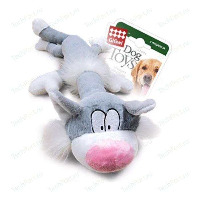 Игрушка GiGwi Dog Toys Squeaker кот с большой пищалкой для собак (75227)