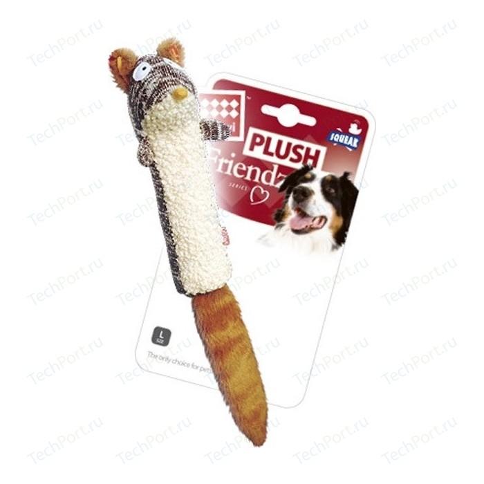 Игрушка GiGwi Plush Friendz Squeak белка с пищалкой для собак (75309)