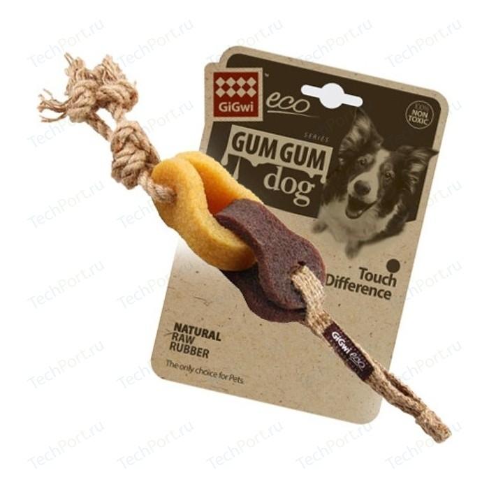 Игрушка GiGwi Eco GumGum Dog Touch the Difference Natural Raw Rubber из эко-резины и натуральных материалов цепь для собак (75318)
