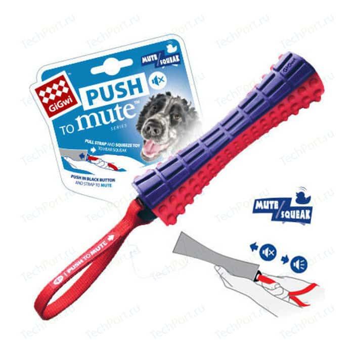 Игрушка GiGwi Push to Mute Squeak Johny Stick палка с отключаемой пищалкой для собак (75323)