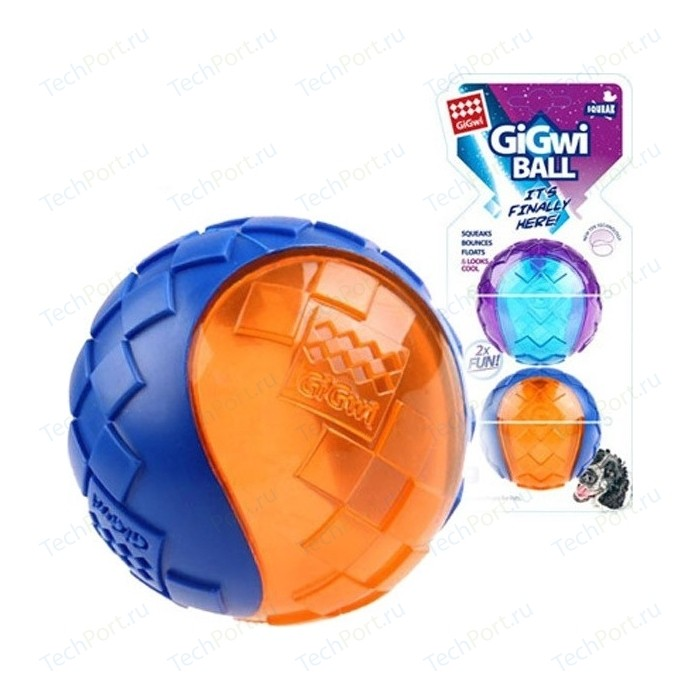 Игрушка GiGwi Ball Squeak игрушка мяч с пищалкой для собак 2шт (75328)
