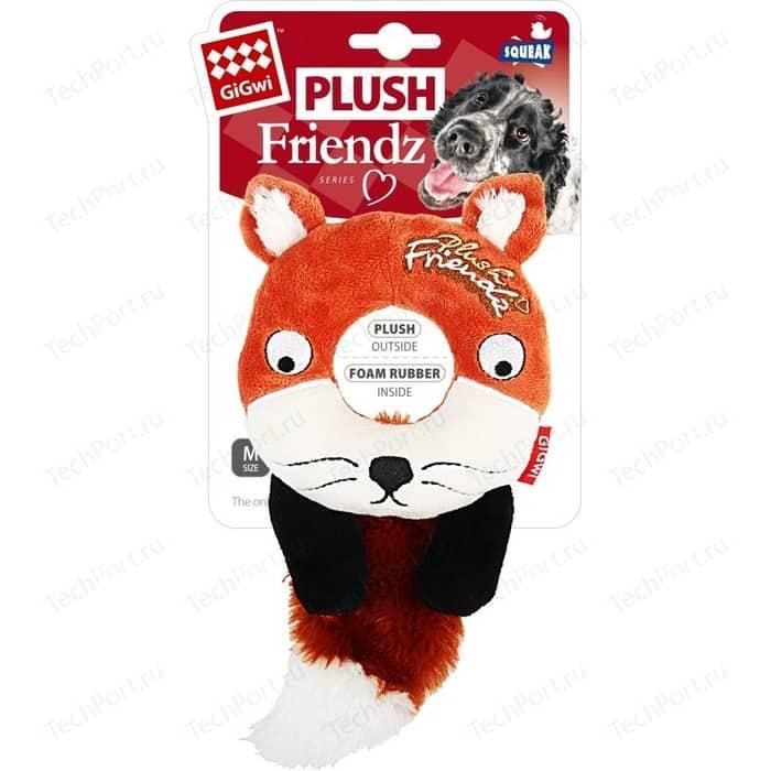 Игрушка GiGwi Plush Friendz Squeak лиса с пищалкой для собак (75402)