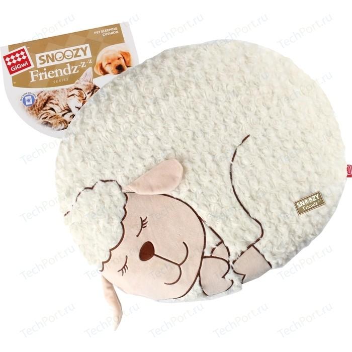 Лежанка GiGwi Snoozy Friendz Warm&Comfort овечка для кошек и собак 55x40x6,4см (75114)