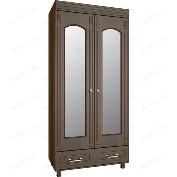 Шкаф платяной с зеркалом Compass ЭМ-16 орех темный комод compass эм 11 орех темный
