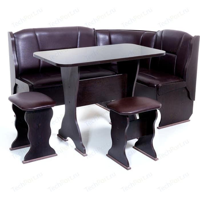 Кухонный уголок Бител Орхидея - однотонный (венге, Борнео умбер, венге) набор мебели для кухни бител тюльпан мини однотонный венге борнео крем венге