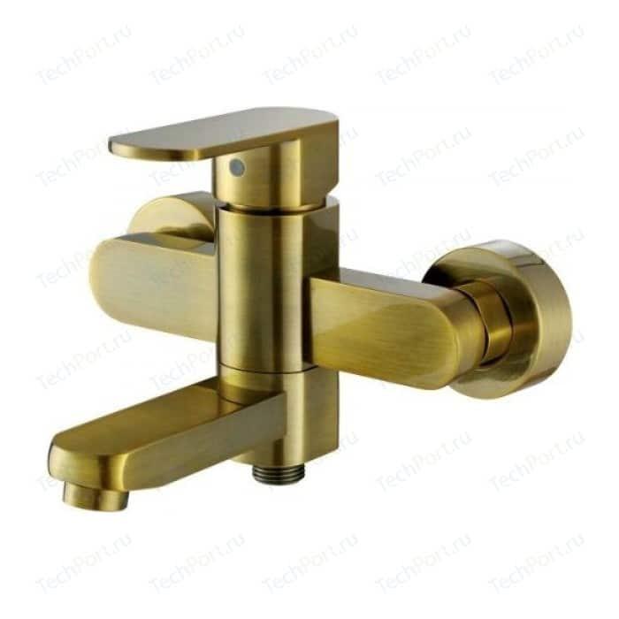 цена на Смеситель для ванны Kaiser Sonat короткий излив, c душем, бронза Bronze (34022-1Br)
