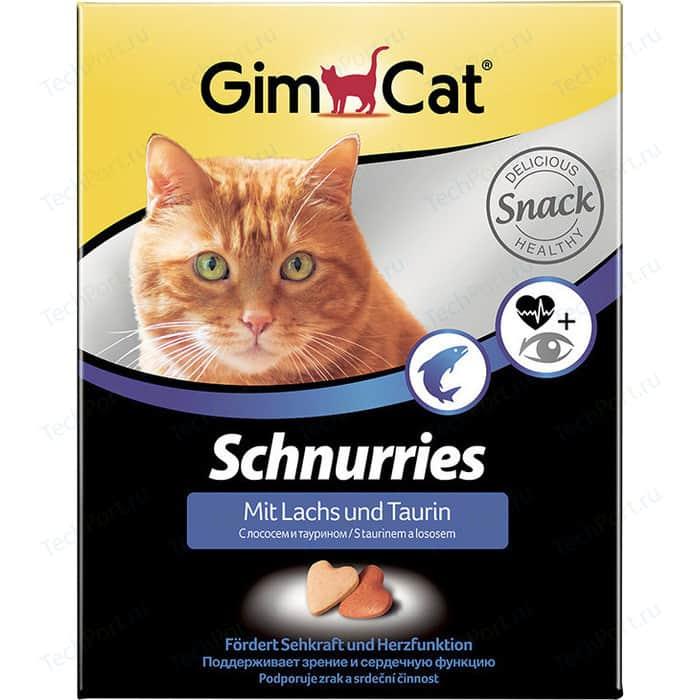 Витамины Gimborn Gimcat Schnurries with Salmon and Taurine сердечки с лососем и таурином для кошек 650таб (409382)