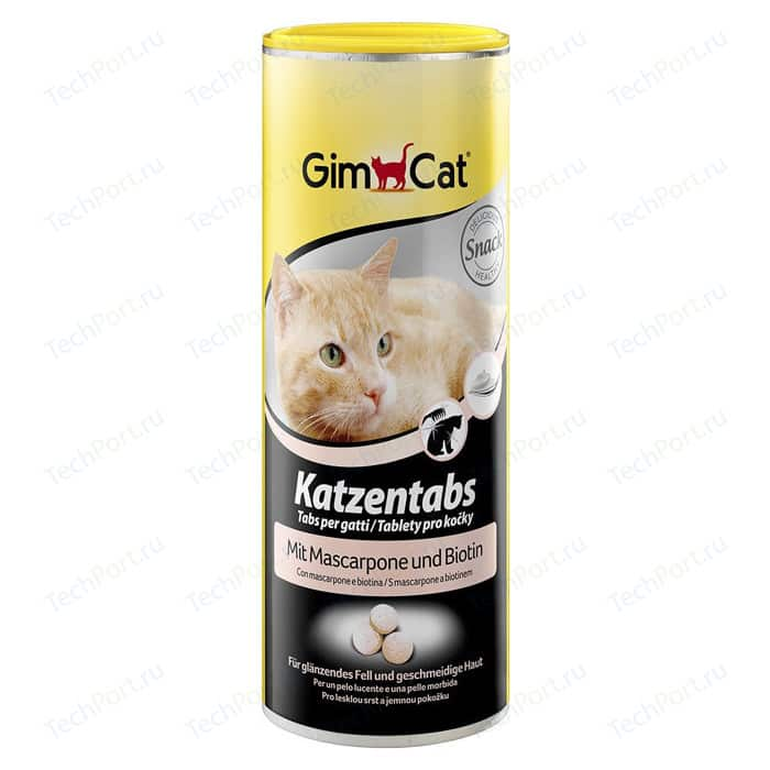 Витамины Gimborn Gimcat Katzentabs with Mascarpone and Biotin c сыром маскарпоне и биотином для кошек 710шт (408064)