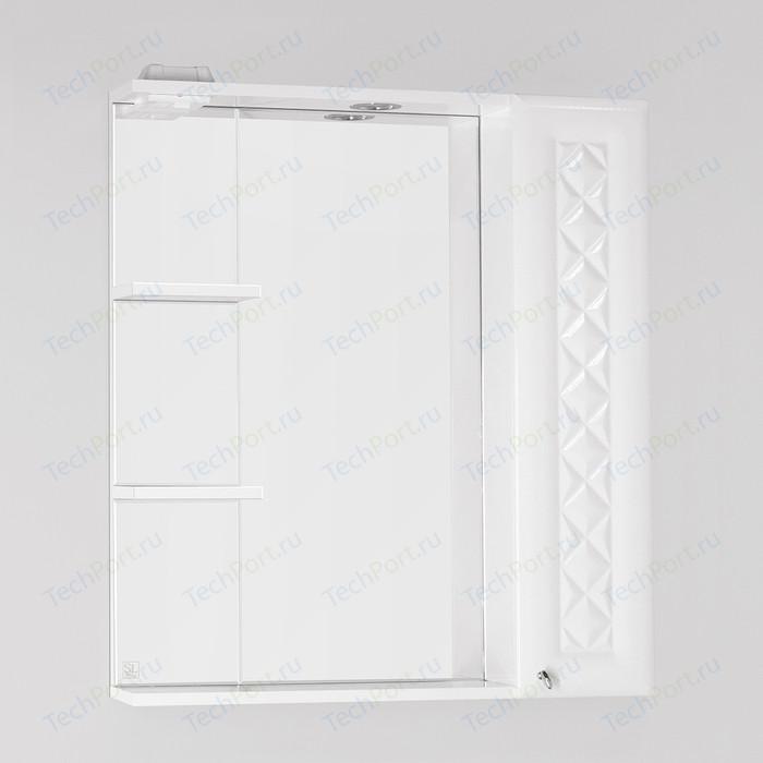 Зеркало-шкаф Style line Канна Люкс 75 с подсветкой, белый (4650134470758)
