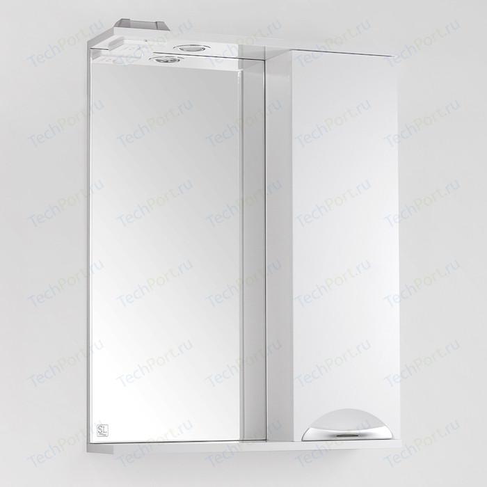 Зеркало-шкаф Style line Жасмин 60 с подсветкой, белый (4650134470628)