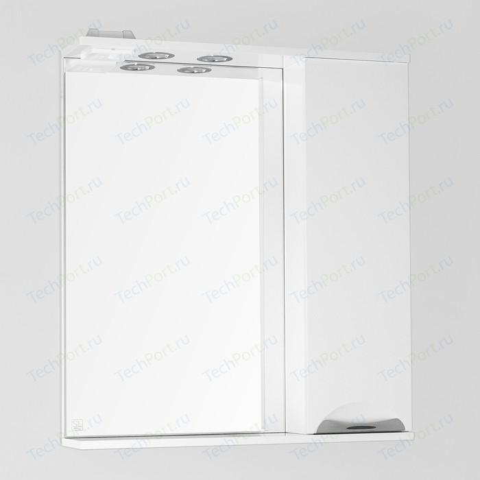 Зеркало-шкаф Style line Жасмин 70 с подсветкой, белый (4650134470673)