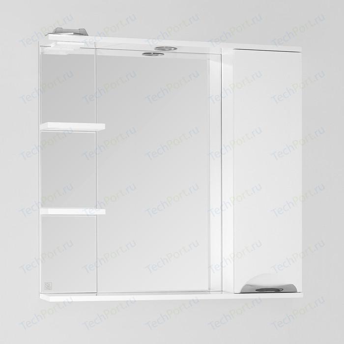 Зеркало-шкаф Style line Жасмин 80 с подсветкой, белый (4650134470680)