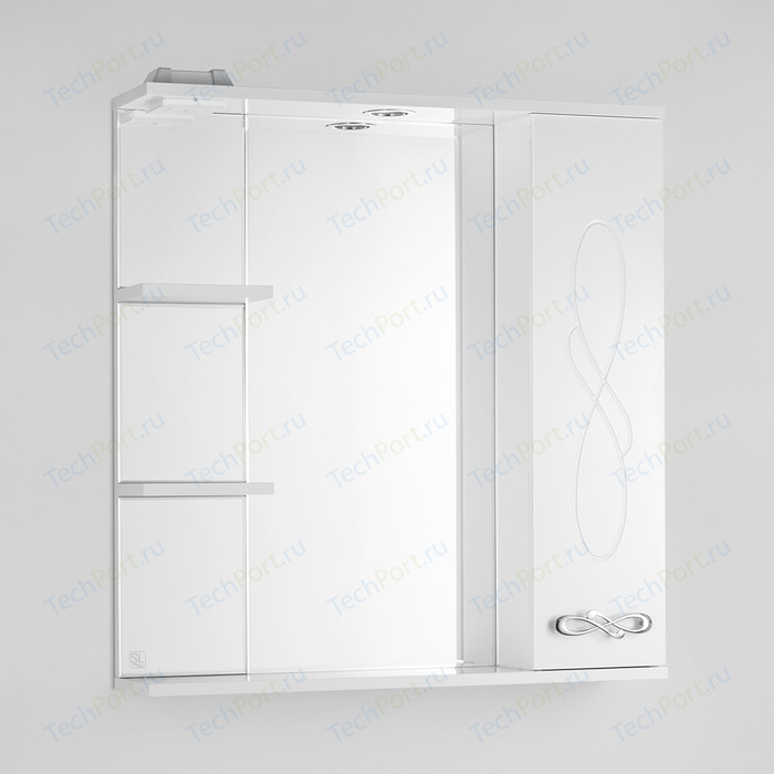 Зеркало-шкаф Style line Венеция 75 с подсветкой, белый (4650134470567)