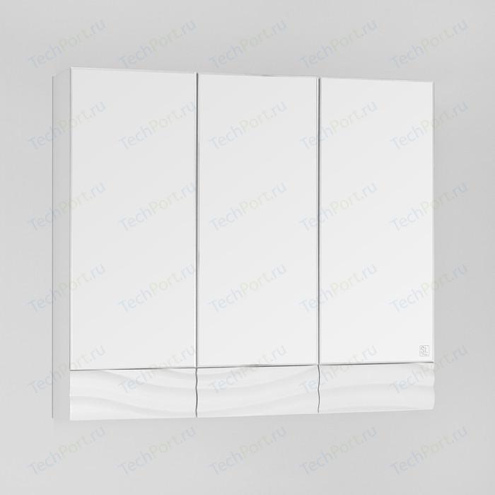 Зеркальный шкаф Style line Вероника 80 белый (4650134470598)