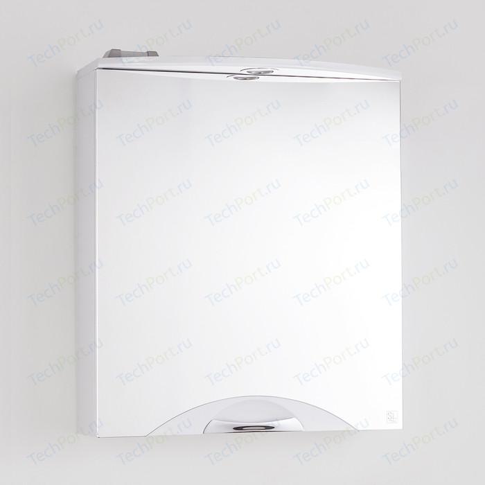Зеркальный шкаф Style line Жасмин-2 Люкс 60 с подсветкой, белый (4650134470659)