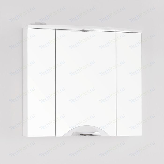 Зеркальный шкаф Style line Жасмин-2 Люкс 76 с подсветкой, белый (4650134470666)