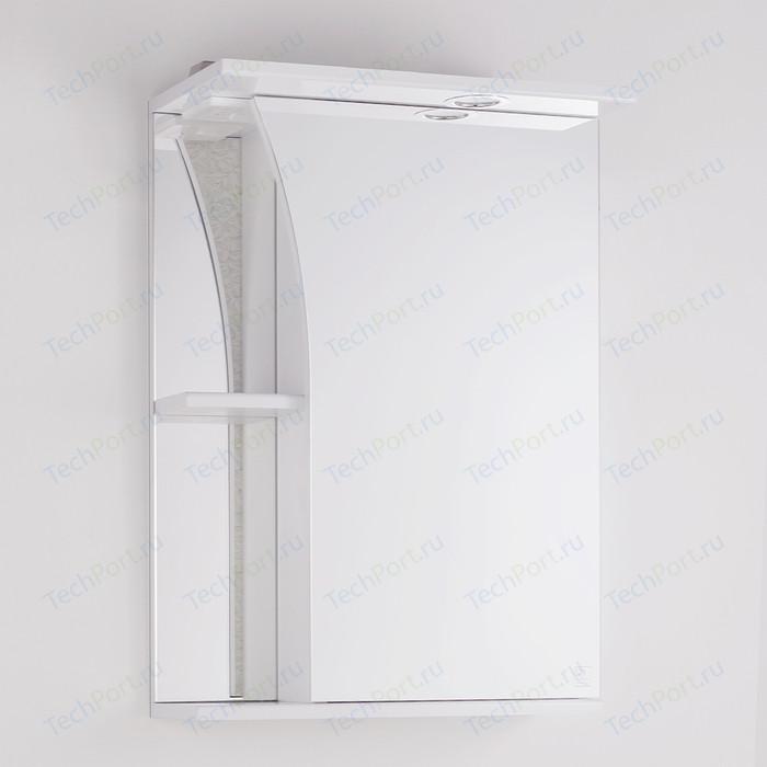 Зеркальный шкаф Style line Виола 50 с подсветкой, белый (4650134470260)