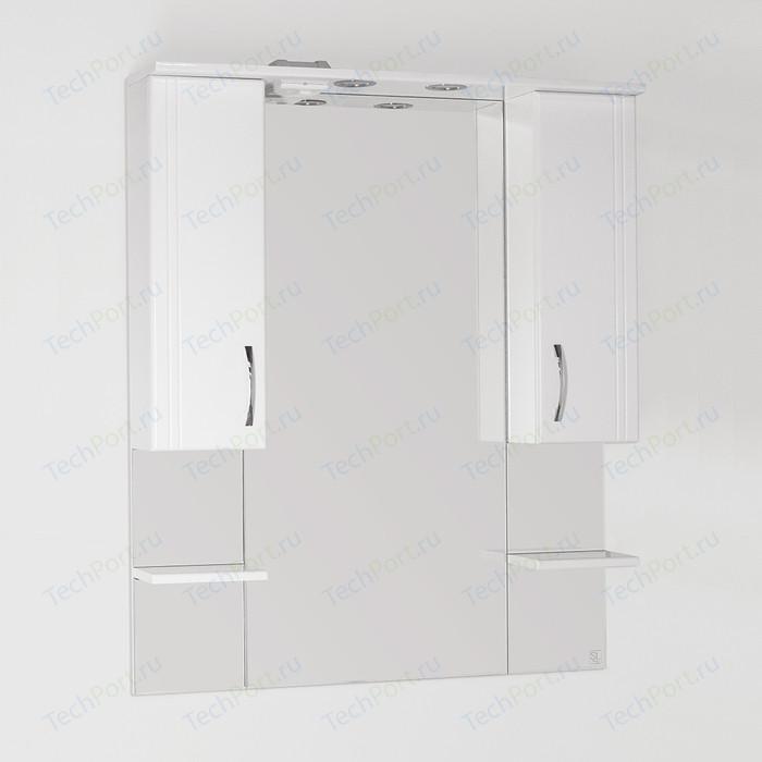 Зеркало-шкаф Style line Энигма 90 с подсветкой, белый (4650134470468)
