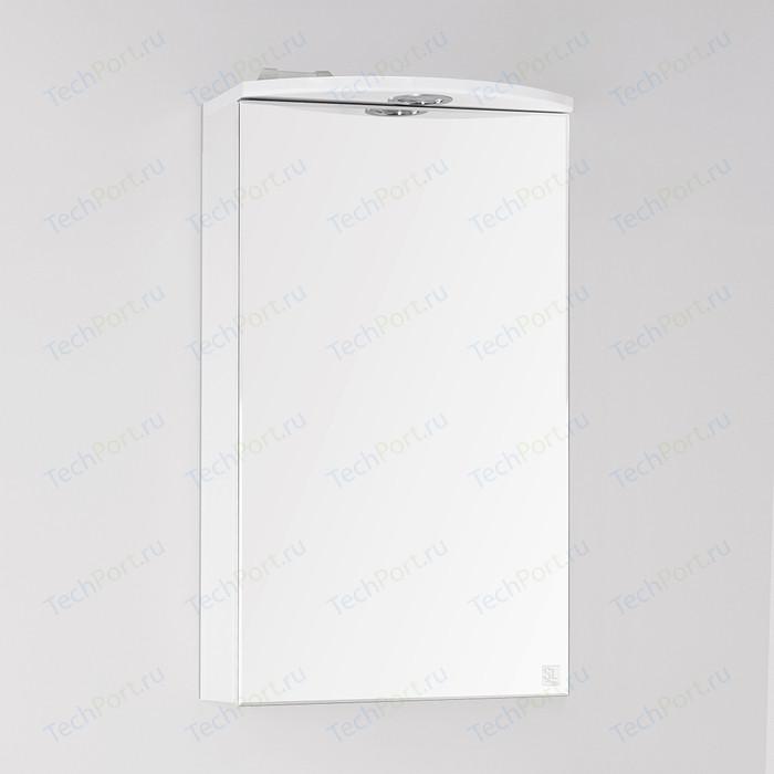 Зеркальный шкаф Style line Альтаир 40 с подсветкой, белый (4650134470253)