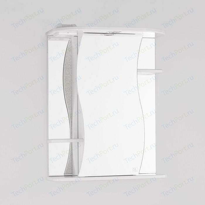 Зеркальный шкаф Style line Лилия 55 с подсветкой, белый (4650134470291)