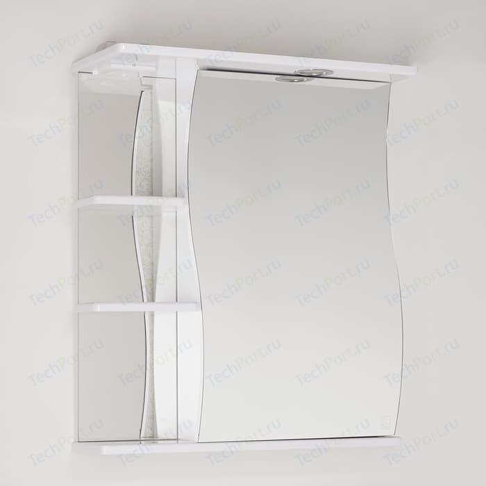 Зеркальный шкаф Style line Эко Волна 60 с подсветкой, белый (4650134470277)