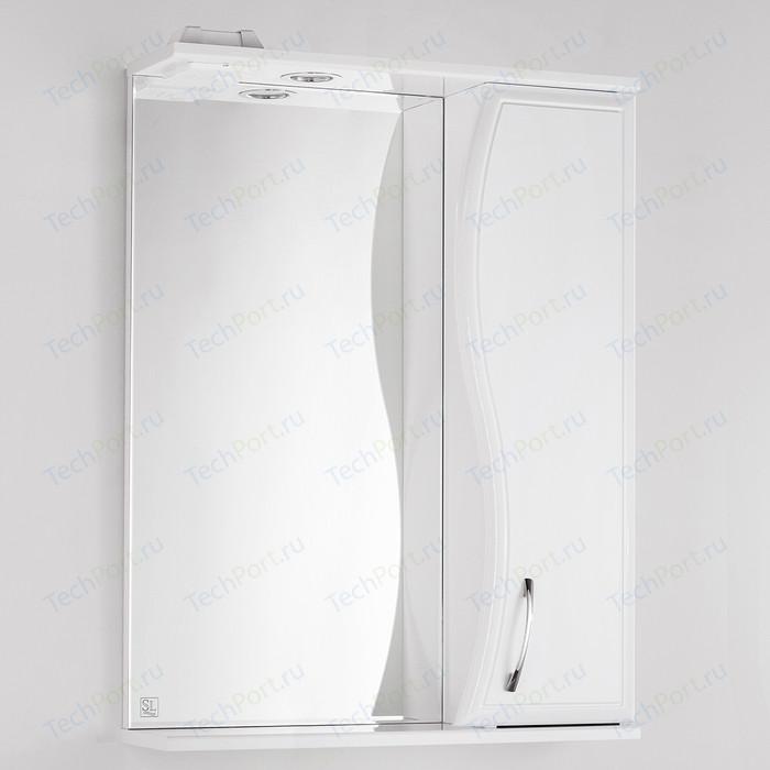 Зеркало-шкаф Style line Панда Волна 60 с подсветкой, белый (4650134470383)