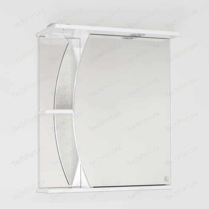 Зеркальный шкаф Style line Камелия 60 с подсветкой, белый (4650134470284)